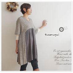 【tumugu ツムグ】 ウール アルパカ ワンピース(tk14322)
