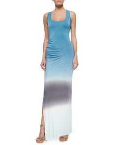 Maelle Racerback Maxi Dress, Teal/Sky by Young Fabulous and Broke at Neiman Marcus.
