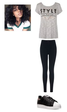 """Outfit for Monday"" by mayawhite04 on Polyvore featuring Miss Selfridge and adidas"