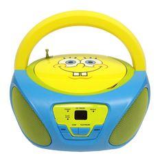SpongeBob SquarePants CD Boombox with AM/FM Radio