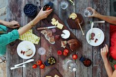 A shared tasting plate. Sunny Afternoon, Company Picnic, Al Fresco Dining, Summer Picnic, Charcuterie Board, Made In America, American Made, Outdoor Dining, A Table