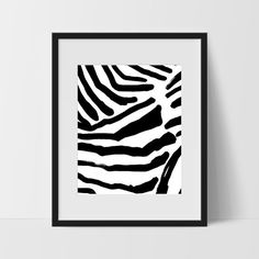 Abstract Wall Art, Black and White Modern Art, 2