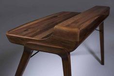 Artisan - Schreibtisch Picard Custom Made Furniture, Solid Wood Furniture, Office Furniture, Furniture Design, Modern Office Table, Home Studio Desk, Writing Desk With Drawers, Wood Computer Desk, Bureau Design