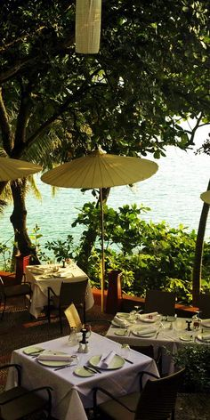 sea view of Mom Tri's Villa Kitchen at Kata Noi Beach, Phuket, Thailand