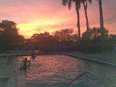 aqua zumba sunset!