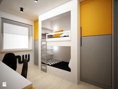 Projekt pokoju dla nastolatków - 9m2 - Średni pokój dziecka dla chłopca dla rodzeństwa dla malucha - zdjęcie od BIG IDEA studio projektowe