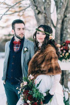 Winter Wedding Fur, Winter Wedding Bridesmaids, Winter Bride, Winter Wonderland Wedding, Brides And Bridesmaids, Vintage Fur, Vintage Bridal, Vintage Glamour, Rustic Wedding Inspiration