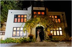 Bride and Groom Night Photo - Wedding at Seven Hills Inn in Lenox, MA - Tricia McCormack Photography