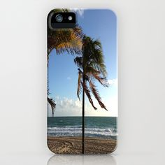 Palms Ft Lauderdale Beach iPhone Case by Rosie Brown - $35.00