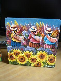 Plant Painting, Artist Painting, Peruvian Art, Southwestern Art, Africa Art, Guitar Art, Cool Art Drawings, Mexican Folk Art, Pop Art