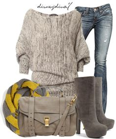 """Yellow and Grey"" by disneydiva7 ❤ liked on Polyvore"