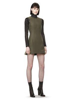 PEPLUM BACK DRESS | Short Dresses | Alexander Wang Official Site