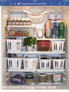 Put baskets in your fridge for easier access