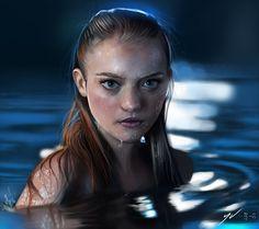 Gemma Ward Digital Painting by Yaşar VURDEM