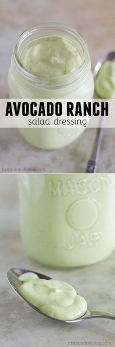 You will never want to have regular ranch dressing after trying this Avocado Ranch Salad Dressing!
