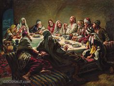 The Last Supper - Christian Wall Art Pictures Of Jesus Christ, Religious Pictures, Bible Pictures, Catholic Art, Religious Art, Jesus Last Supper, Last Supper Art, Biblical Art, Christian Wall Art