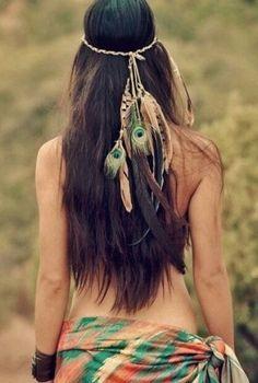 Haarschmuck aus Federn