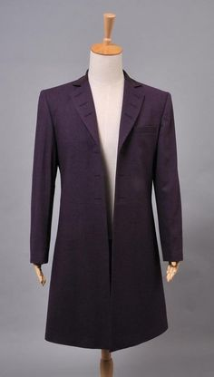 Doctor Who 11th Doc. Purple Wool Frock Coat Costume by cossky