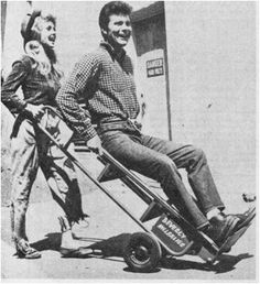 Donna Douglas and Max Baer, Jr. playing around on the set of The Beverly Hillbillies in 1963.