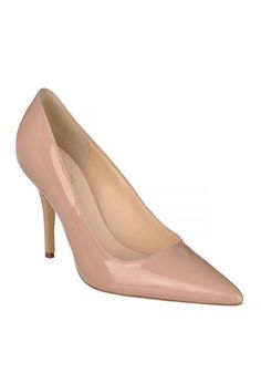 HOGL WOMENS PATENT LEATHER POINTED TOE HEELS, NUDE www.mcelhinneys.com