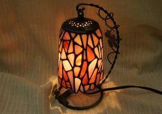Swing Mosaic Lamp Pink Lantern Interior by SleepingNightOwl on Etsy