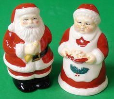 Christmas Santa and Mrs Claus Salt & Pepper Shakers   eBay