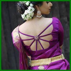 New Saree Blouse Designs, Simple Blouse Designs, Blouse Back Neck Designs, Stylish Blouse Design, Bridal Blouse Designs, Blouse Patterns, Dress Designs, Sari Bluse, Lehenga Blouse