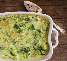 Broccoli Cheese Bake is a delicious creamy baked broccoli side dish perfect for any occasion / anitalianinmykitchen.com