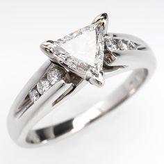 Triangle trillion Brilliant Cut Diamond Engagement Ring Platinum, I want this setting for my aquamarine stone!