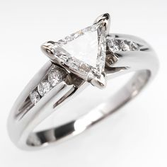 Triangle trillion Brilliant Cut Diamond Engagement Ring Platinum, I want this setting for my aquamarine stone!
