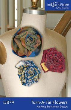 Necktie into a flower - awesome