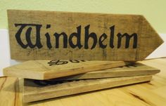 Skyrim Inspired Road Signs by EmeraldCityRustic on Etsy