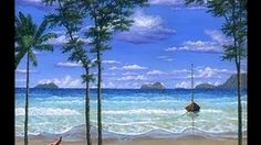 How To Paint Tropical Beach Complete Video Acrylic Painting Class ...