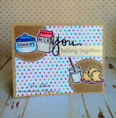 Very fun stamp set Milk and Cookies from Lawn Fawn