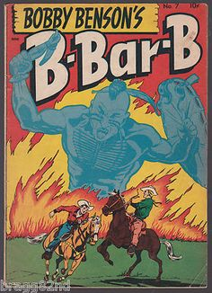 1950 golden age BOBBY BENSON'S B-BAR-B #7 Comic Book WESTERN COWBOY