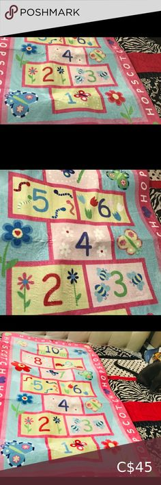 Carpet For Children Hop Scotch Them area rug This children's rug is 3 feet wide X 4 feet 10 inches Long Hop Scotch Theme Brand New still in box amozon Other Hopscotch, 4 H, Area Rugs, Kids Shop, Carpet, Quilts, Children, Things To Sell, Young Children