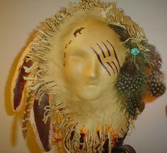 Native American Warrior Spirit Face Wall Art. $55.00, via Etsy.