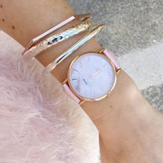 """77 Likes, 7 Comments - My Jewellery Shop OFFICIAL (@myjewelleryshop) on Instagram: """"A splash of pink for the day! We just love this gorgeous combo ✨ A pink Oozoo Vintage watch and a…"""""""