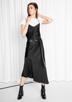 & Other Stories image 2 of Slinky Strap Dress in Black