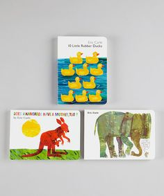 Take a look at this 10 Little Rubber Ducks Board Book Set by The World of Eric Carle on #zulily today!