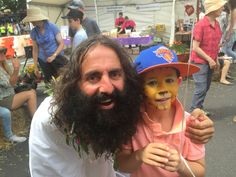 Costa from Gardening Australia shows a young fan how to be sustainable in the garden