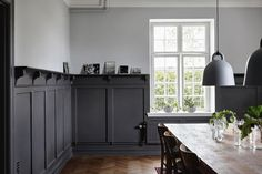 6 Abundant Tips: Wainscoting Living Room Home tall wainscoting simple.Wainscoting Stairway wainscoting living room home. Wall Design, House Design, Design Design, Design Ideas, Painted Wainscoting, Black Wainscoting, Wainscoting Nursery, Wainscoting Hallway, Wainscoting Panels