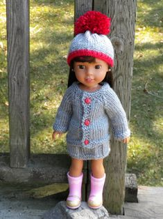 knitted doll patterns Free knitting patterns for dolls Knitted Doll Patterns, Knitted Dolls, Knitting Patterns Free, Free Knitting, Baby Knitting, Knitting Toys, Knitting Ideas, Crochet Dolls, Knitting Dolls Clothes
