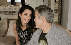 The American actor George Clooney and his fiancée, Beirut-born, London-based barrister Amal Alamuddin, gaze into each other's eyes during their safari vacation.