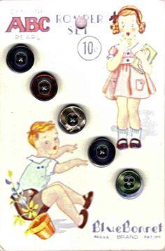 Vintage Connections: Original Button Cards