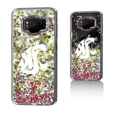 Washington State University Gold Glitter Galaxy S8 Case NCAA. Officially Licensed by the NCAA. Designed and printed in Portland, OR USA. Solid acyrlic body with floating glitter back. Clear body allows your phones natural beauty to show through a layer of glittery awesomeness. Made to precisely fit the Galaxy S8.