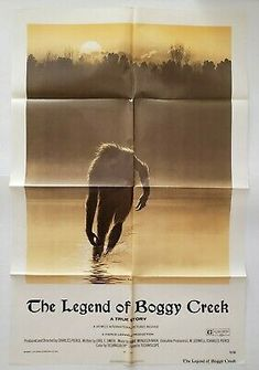 "The Legend of Boggy Creek 1973 Original Movie Poster One Sheet Vintage 27"" x 41"" 