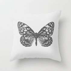 BUTTERFLY++Throw+Pillow+by+Miguel+Angelo+-+$20.00