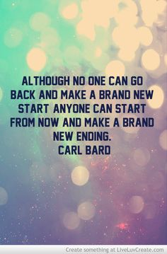 This strikes a chord with me - it's how I feel about every New Year. New Year = new beginning