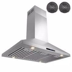 AKDY 36 in. Convertible Kitchen Island Mount Range Hood in Stainless Steel with Touch Control and Carbon Filter-RH0260 - The Home Depot Stainless Steel Island, Brushed Stainless Steel, Kitchen Tops, Kitchen Island, Electronic Recycling, Carbon Filter, City Living, Wall Oven, Minimalist Design